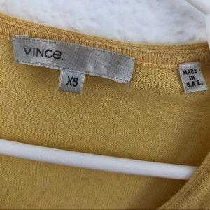 Vince Tops - Vince   yellow and gray long sleeve tee